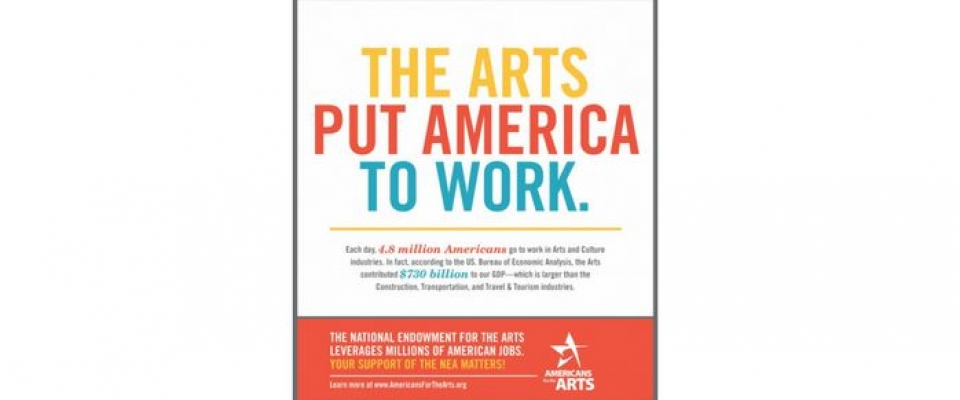 Each day, 4.8 million Americans go to work in Arts and Culture industries. In fact, according to the US. Bureau of Economic Analysis, the Arts contributed $730 billion to our GDP—which is larger than Construction, Transportation, and Travel & Tourism.    http://www.americansforthearts.org/news-room/arts-mobilization-center